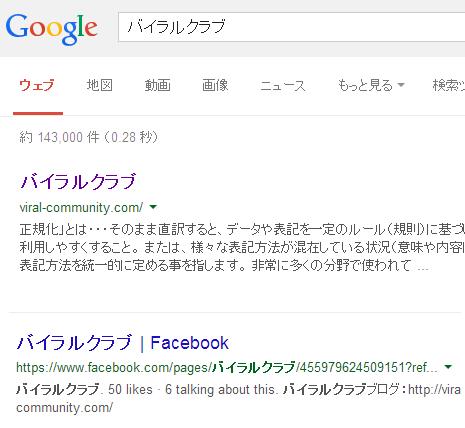 インデックス 検索結果への表示