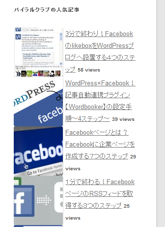 WordPress Popular Posts 設定手順6
