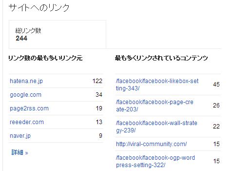 Google ウェブマスターツール(WebMasterTool) 機能3