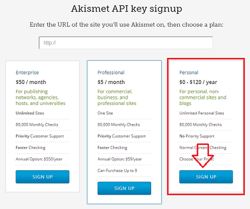 Wordpress Akismet 設定手順4