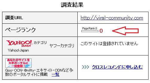 Googleページランク(pagerank) 確認手順2