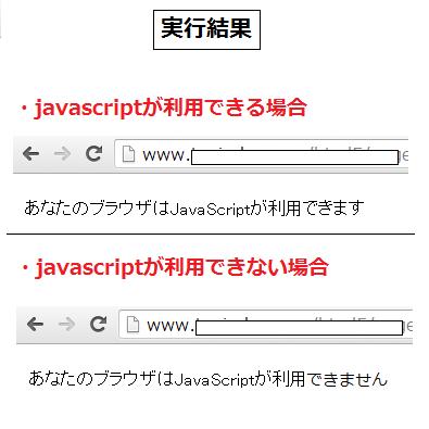 noscript 実行結果例