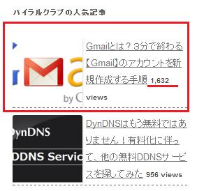 Gmailの記事 1日のアクセス