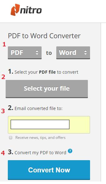 PDF-to-Word-Converter 利用手順-1
