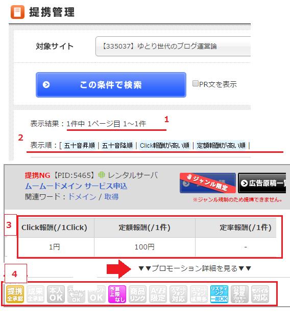 アフィリエイトB ブログへの広告リンク設置手順-2