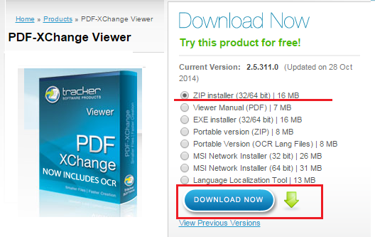 PDF-XChange-Viewer インストール手順-1