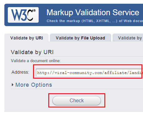 W3C-Markup-Validation-Service の使い方