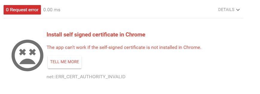 ARC:自己SSL証明書のエラー-5